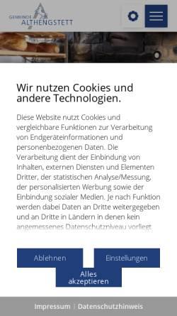 Vorschau der mobilen Webseite www.althengstett.de, Althengstett