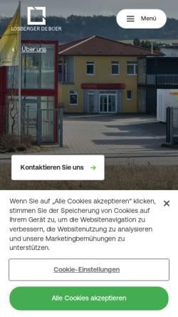 Vorschau der mobilen Webseite www.renz-container.com, Renz GmbH