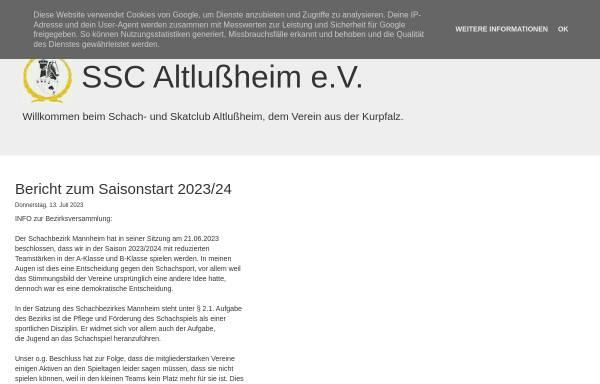 Vorschau von www.ssc-altlussheim.de, Schach- und Skatclub Altlußheim