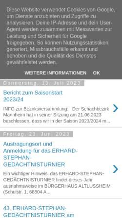 Vorschau der mobilen Webseite www.ssc-altlussheim.de, Schach- und Skatclub Altlußheim