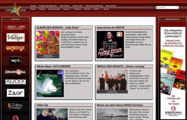 Vorschau von www.drums.de, Drums.de