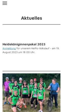 Vorschau der mobilen Webseite mtv-lauftreff.de, MTV Amelinghausen e.V. - Lauftreff