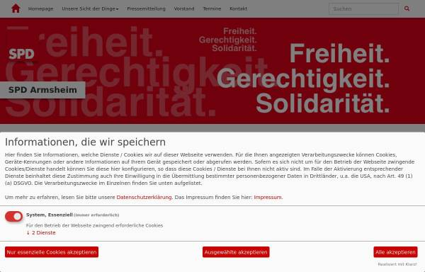 Vorschau von www.spd-armsheim.de, SPD Armsheim