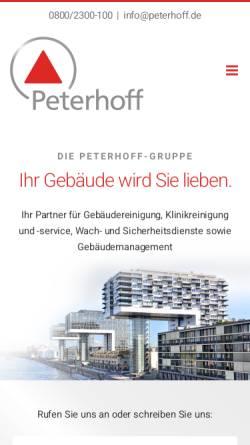 Vorschau der mobilen Webseite www.peterhoff.de, F. J. Peterhoff GmbH