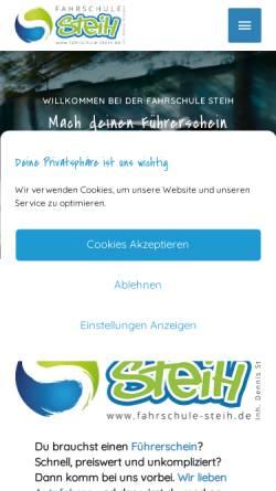 Vorschau der mobilen Webseite www.fahrschule-steih.de, Fahrschule Steih