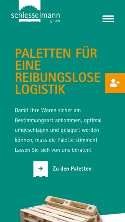 Vorschau der mobilen Webseite www.schlesselmann.de, Schlesselmann GmbH