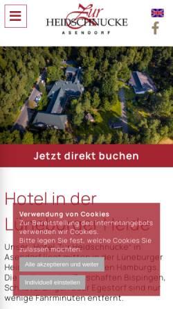 Vorschau der mobilen Webseite www.zur-heidschnucke.de, Zur Heidschnuke