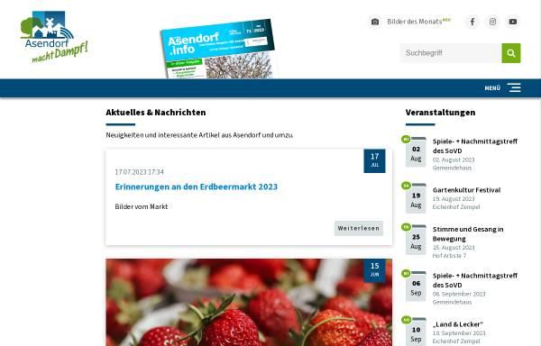 Vorschau von www.asendorf.info, Gemeinde Asendorf