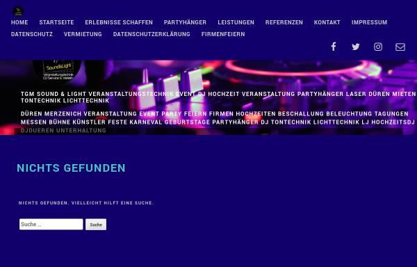 Vorschau von www.tgm-team.de, TGM Sound & Light Veranstaltungstechnik Thomas Garding