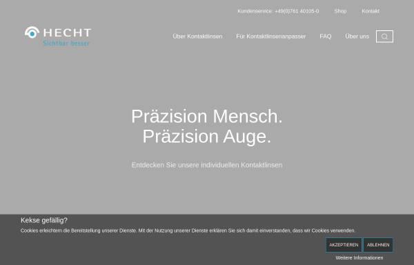 Vorschau von www.hecht-kontaktlinsen.de, Hecht Contactlinsen GmbH