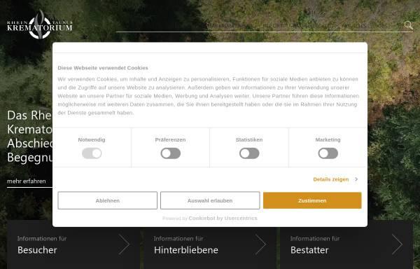 Vorschau von www.rhein-taunus-krematorium.de, Rhein-Taunus-Krematorium GmbH