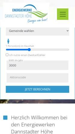 Vorschau der mobilen Webseite www.vg-werk-dannstadt-schauernheim.de, Verbandsgemeindewerk Dannstadt-Schauernheim