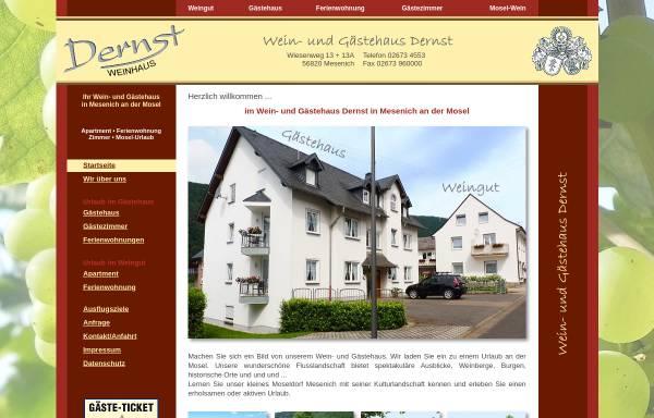 Vorschau von www.dernst.de, Wein- und Gästehaus Dernst