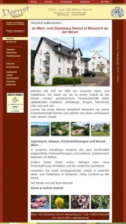 Vorschau der mobilen Webseite www.dernst.de, Wein- und Gästehaus Dernst