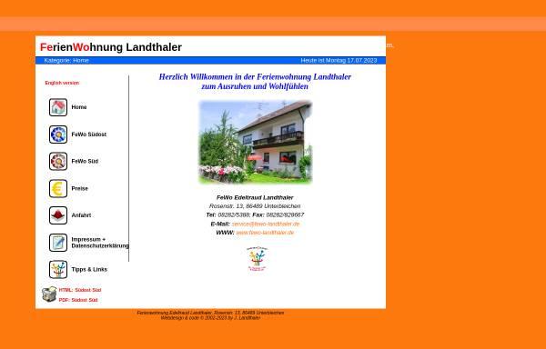Vorschau von www.fewo-landthaler.de, Ferienwohnung Landthaler