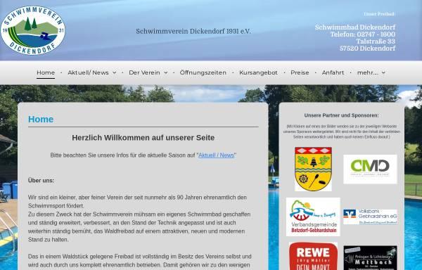 Vorschau von www.sv-dickendorf.de, Schwimmverein Dickendorf e.V.