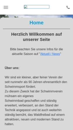 Vorschau der mobilen Webseite www.sv-dickendorf.de, Schwimmverein Dickendorf e.V.