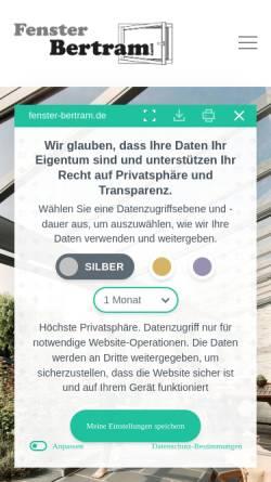Vorschau der mobilen Webseite www.fenster-bertram.de, Fenster Bertram GmbH