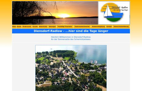 Vorschau von www.diensdorf-radlow.de, Gemeinde Diensdorf-Radlow