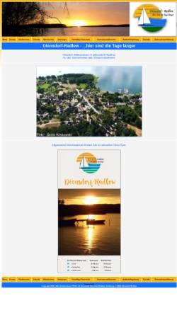 Vorschau der mobilen Webseite www.diensdorf-radlow.de, Gemeinde Diensdorf-Radlow