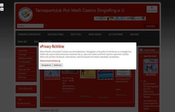 Vorschau von www.tsc-dingolfing.de, Tanzsportclub Rot-Weiß Casino Dingolfing e.V.