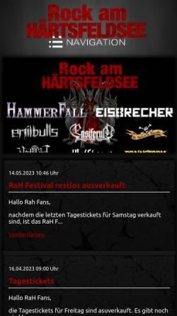 Vorschau der mobilen Webseite www.rockamhaertsfeldsee.de, Rock am Härtsfeldsee