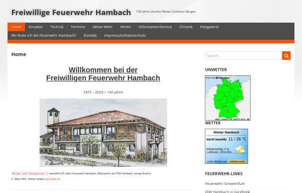 Vorschau von www.feuerwehr-hambach.de, Freiwillige Feuerwehr Hambach
