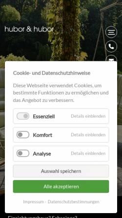 Vorschau der mobilen Webseite www.hubor-hubor.de, Einrichtungshaus Hubor und Hubor GmbH