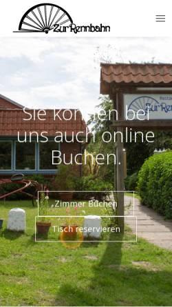 Vorschau der mobilen Webseite www.hotel-zur-rennbahn.de, Hotel-Restaurant zur Rennbahn