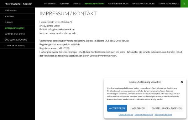 Vorschau von hv-dreis-brueck.de, Heimatverein Dreis-Brück e.V.