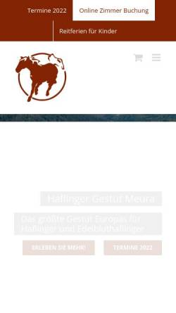 Vorschau der mobilen Webseite www.haflinger-in-meura.de, Haflinger Gestüt Meura