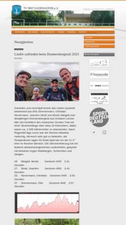 Vorschau der mobilen Webseite www.tv-dudenhofen.de, TV-Dudenhofen