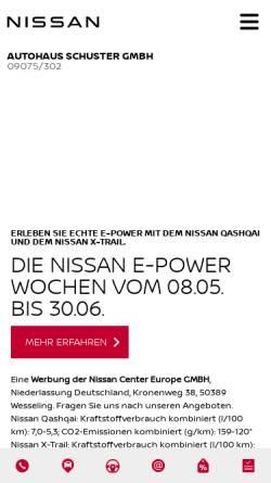 Vorschau der mobilen Webseite www.autohaus-schuster.de, Autohaus Schuster GmbH