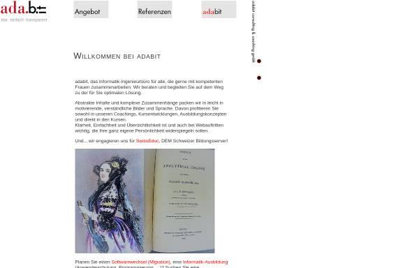 Vorschau von www.adabit.ch, Ada.bit - Consulting & Coaching GmbH Zürich