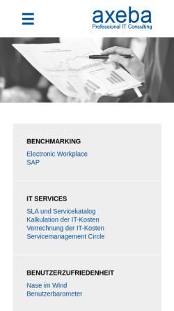 Vorschau der mobilen Webseite www.axeba.ch, Axeba AG