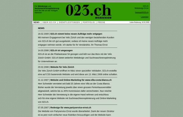 Vorschau von www.023.ch, 023.ch Ernst