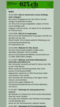 Vorschau der mobilen Webseite www.023.ch, 023.ch Ernst