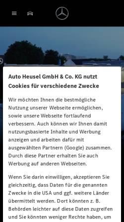 Vorschau der mobilen Webseite www.mercedes-benz-heusel.de, Auto Heusel GmbH & Co. KG