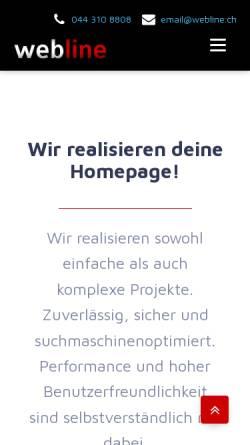 Vorschau der mobilen Webseite webline.ch, Webline