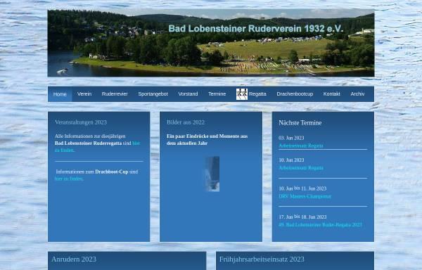 Vorschau von www.lobenstein-rudern.de, Lobensteiner Ruder-Verein 1932 e.V.