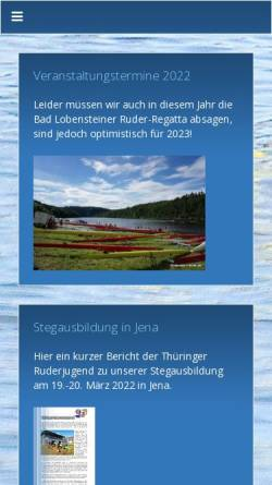 Vorschau der mobilen Webseite www.lobenstein-rudern.de, Lobensteiner Ruder-Verein 1932 e.V.