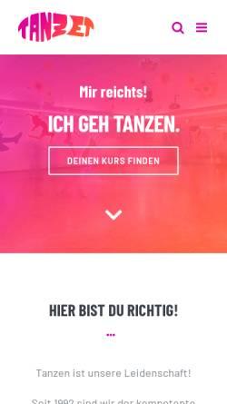Vorschau der mobilen Webseite www.tanzet.de, Tanzschule Zettler
