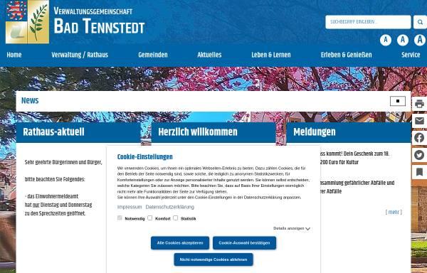 Vorschau von www.badtennstedt.de, Bad Tennstedt