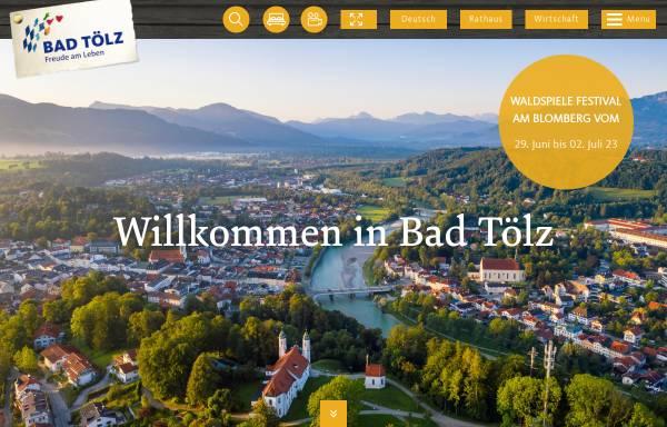 Vorschau von www.bayregio-bad-toelz.de, BAYregio Bad Tölz