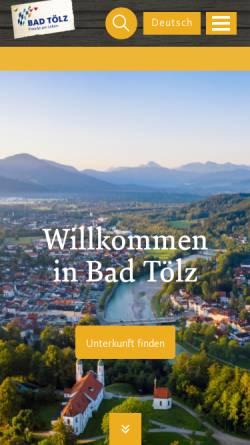 Vorschau der mobilen Webseite www.bayregio-bad-toelz.de, BAYregio Bad Tölz