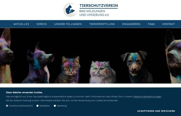 Vorschau von www.tierheim-bad-wildungen.de, Tierheim Bad Wildungen