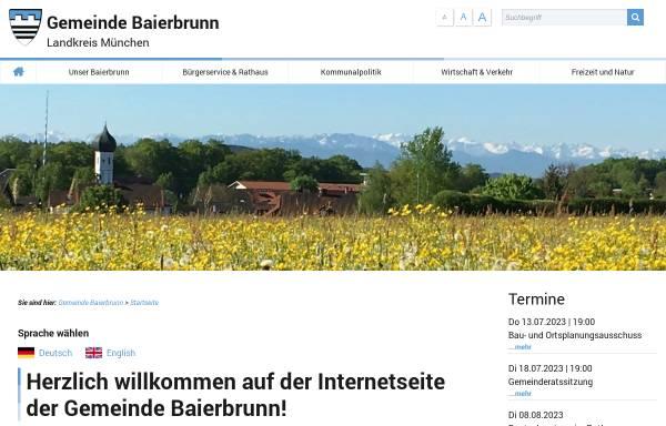 Vorschau von www.baierbrunn.de, Gemeinde Baierbrunn