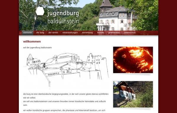 Vorschau von www.jugendburg-balduinstein.de, Jugendburg Balduinstein