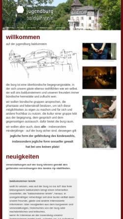Vorschau der mobilen Webseite www.jugendburg-balduinstein.de, Jugendburg Balduinstein