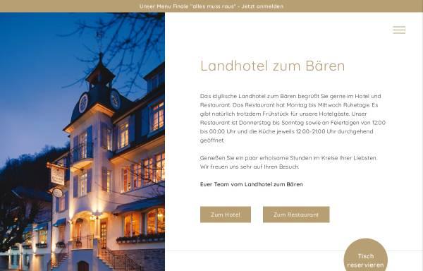Vorschau von www.landhotel-zum-baeren.de, Landhotel zum Bären